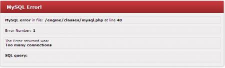 Mysql fatal error.